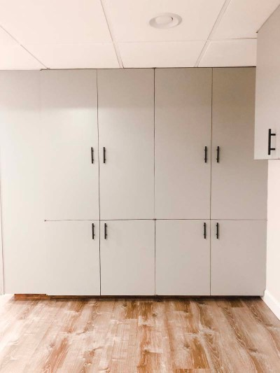 Basement Cabinets Black Handles