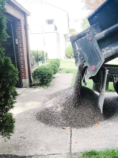 Delivering Pea Gravel