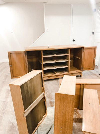 Sanded TV Console