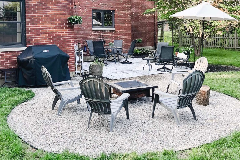 Pea Gravel Patio