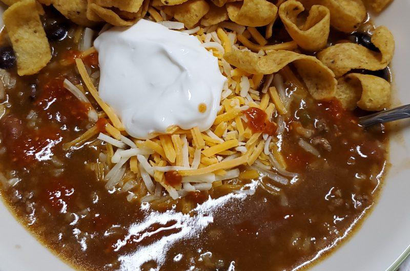 Beefy Enchilada Soup