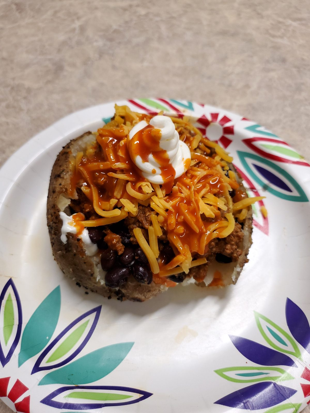 Loaded Taco Baked Potato