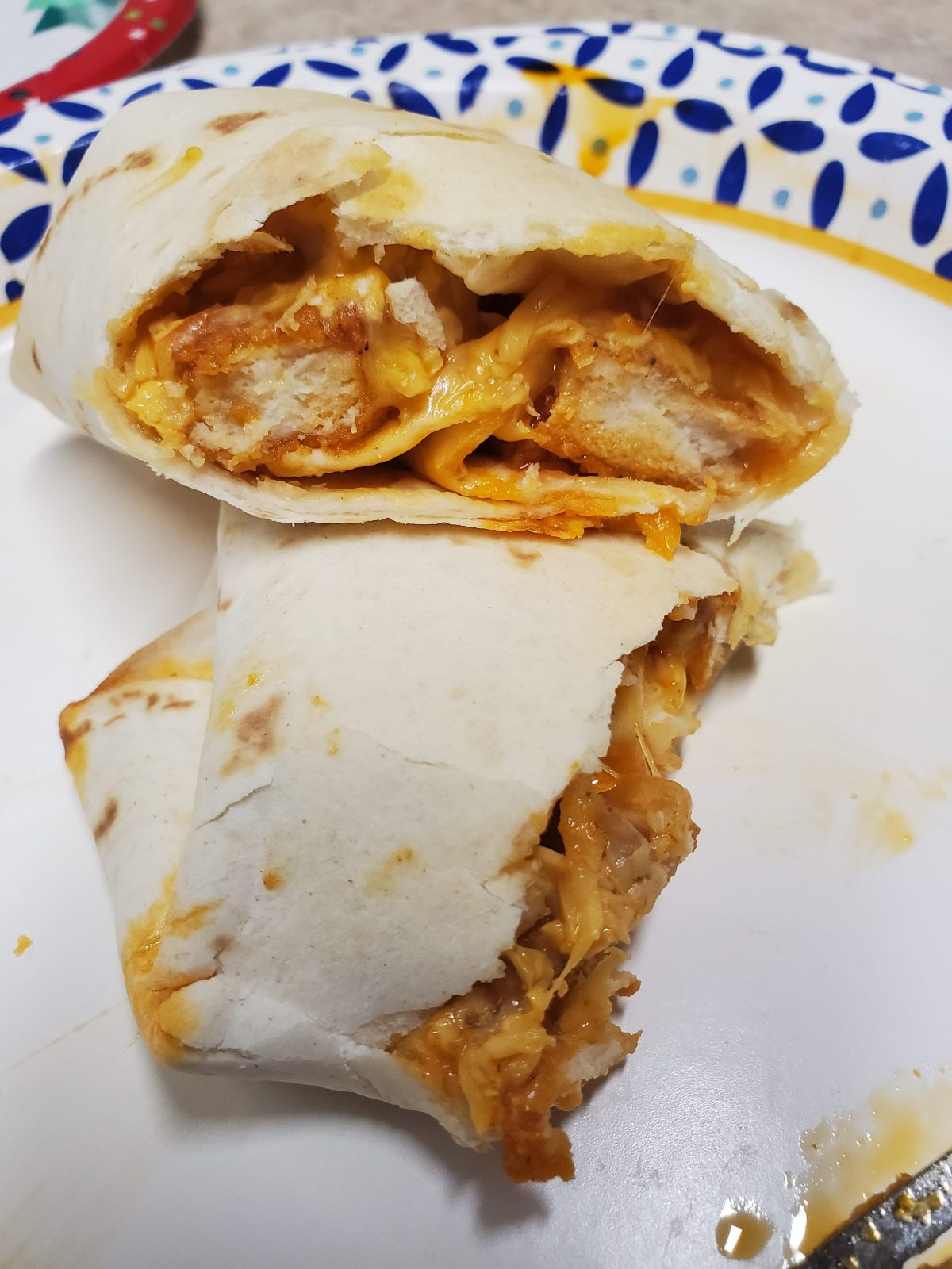 Quick and easy Buffalo Chicken wraps