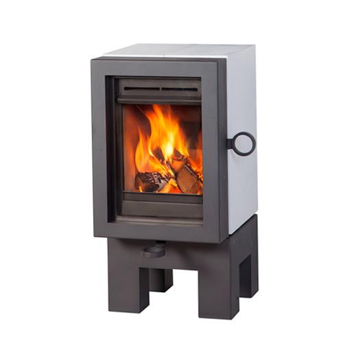 wanders oak wood stove white grey