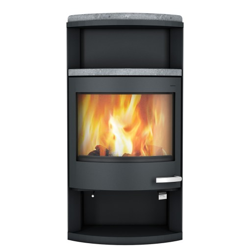 skantherm ator wood stove black steel
