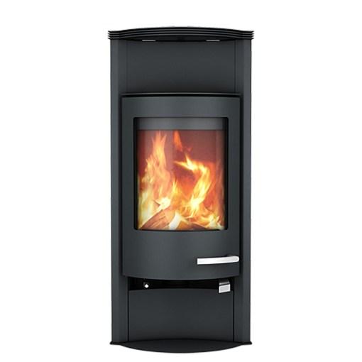skantherm merano wood stove black steel