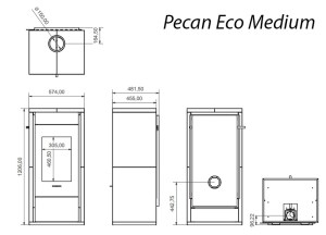 Pecan Medium Technical Drawing