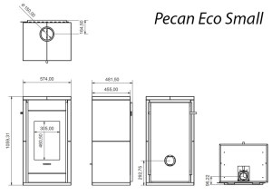 Pecan Small Technical Drawing