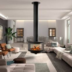 Rocal Ronde Central Suspended Stove