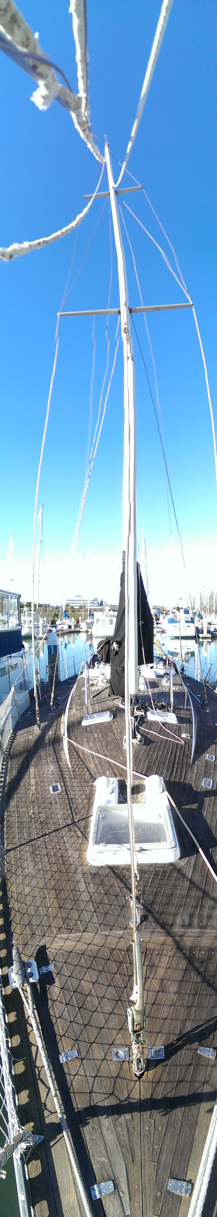 Panoramic from bow (the mast is NOT that crooked I promise. Wink)