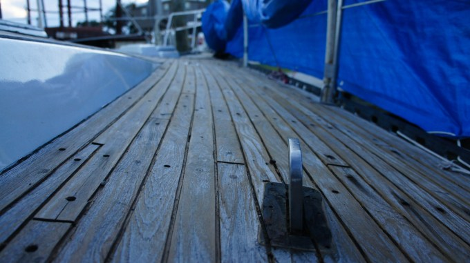 Clean deck ready to get plugs
