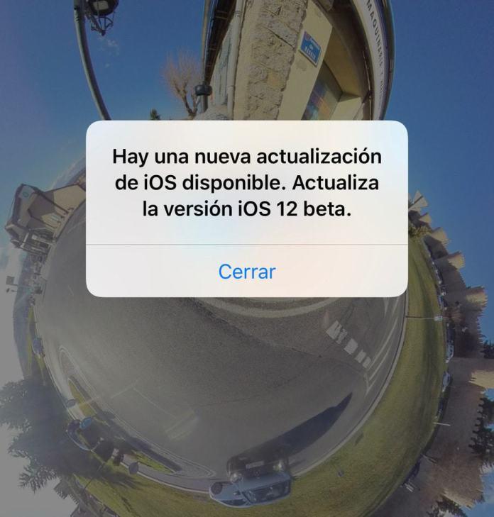 Error iOS 12 Beta 9 y Beta 11 solicitando actualizarse constantemente