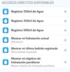 WaterMinder - Review - Accesos directos Siri