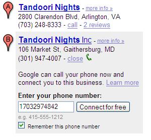google click 2 call