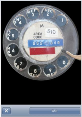 Screen grab of Rotary Dial app for iPhone
