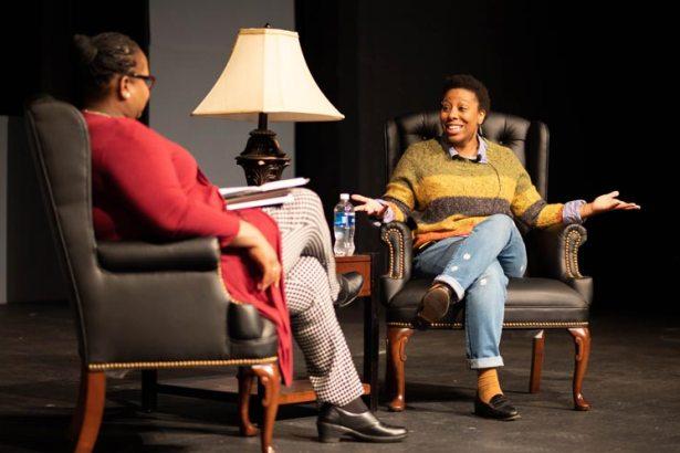 Morgan Parker, Visitor Writers Series, speaks at Lenoir-Rhyne University