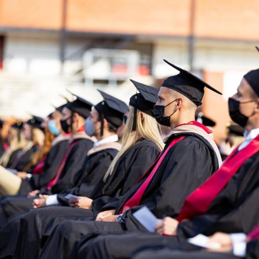 LRU students in audience at 2021 commencement ceremony