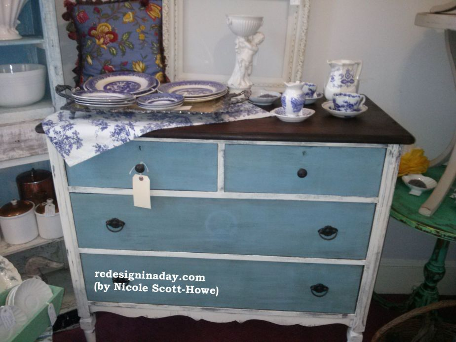 Baby Blue Dresser/Changing Table (SOLD)