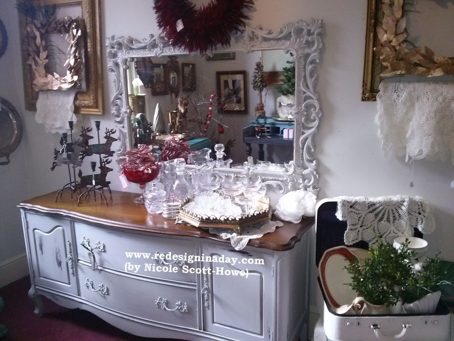 Modern/Glam Buffet & Mirror (Sold)