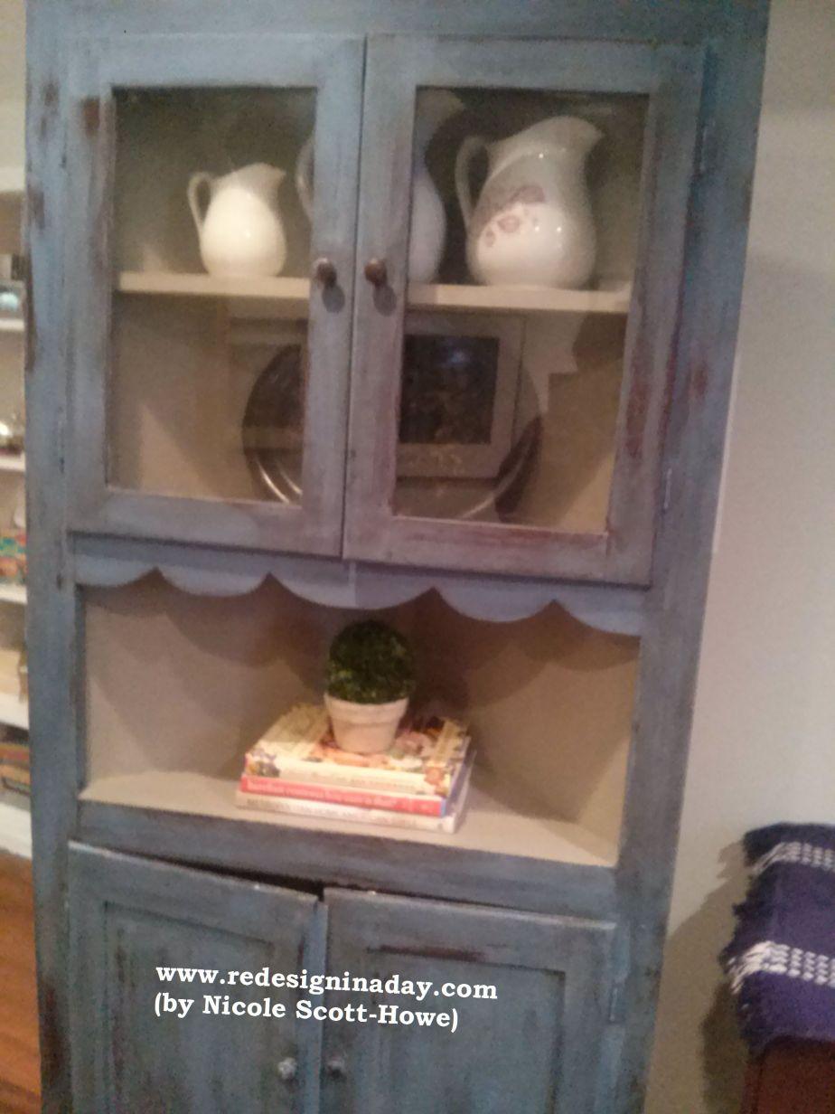 """Vintage Corner Cabinet (aka the """"Meghan"""" Cabinet) (Sold)"""