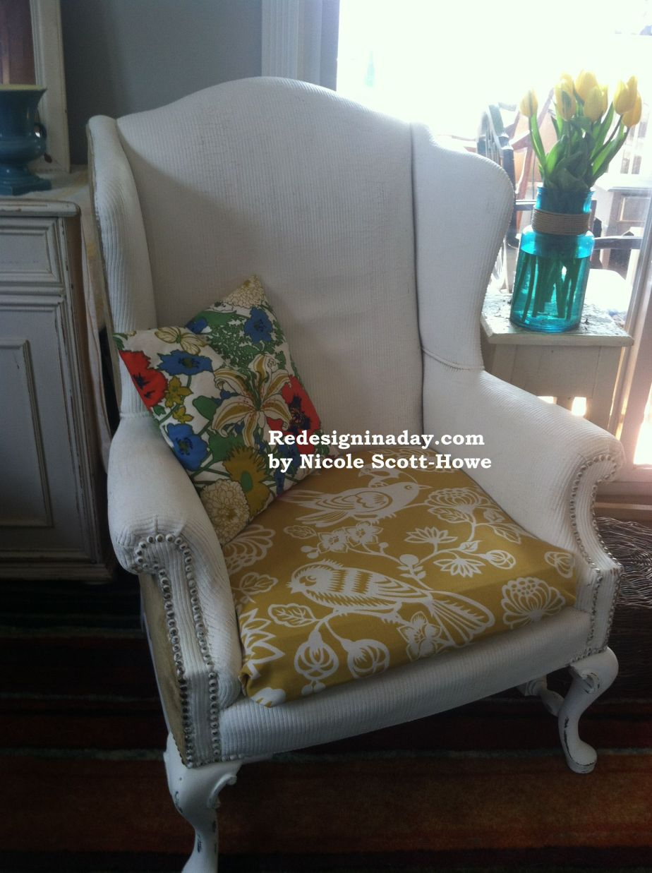 Yes, You Can Paint Fabric (The Painted Chair)