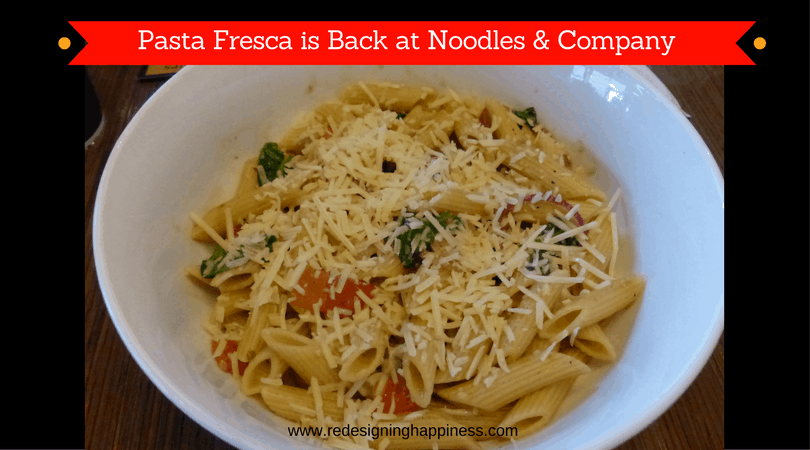 Pasta Fresca is Back at Noodles & Company