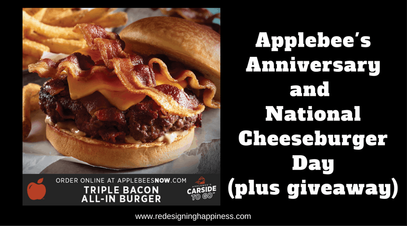Applebee's Anniversary/National Cheeseburger Day (plus giveaway)