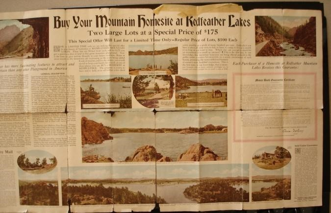 Redfeather Mountain Lakes Resort Advertisement