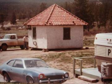 Moving the old gatehouse to Alpine Lodge in 1980