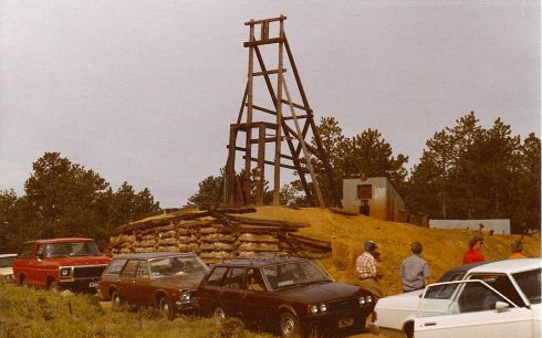 Copper Bug Mine on Prairie Divide Road, photo probably taken in the early 1980's.