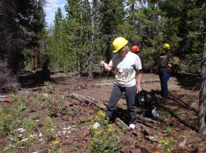 Rene Lee finding artifacts in logging camp dump