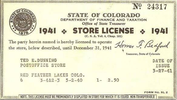 Red Feather Trading Post Store License