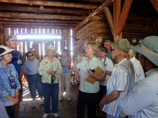 Rene Lee describing the Lady Moon Barn built by Frank H. Gartman, Lady Moon's first husband around 1886. It was once owned by Cecil Moon, Lady Catherine Moon's second husband. The Barn had several different owners over the years including Wes Swan, Rene's great uncle.