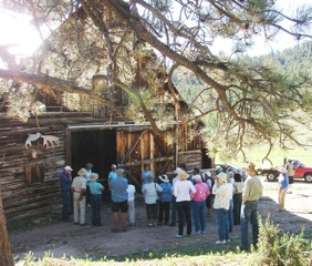 Tour Participants on the Lady Moon Barn Tour