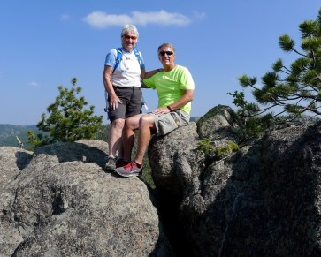 Margie Caswell and her brother on top of newly located Mt. Margaret
