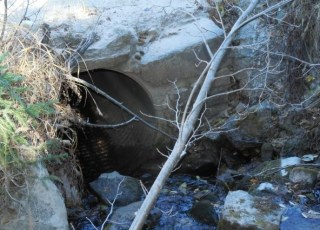 This culvert is about two miles up the Deadman Road.