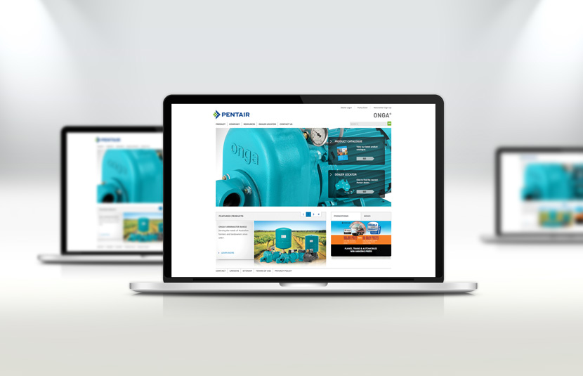 Onga Pentair Responsive Website Design Red Fred Creative