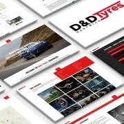 D&D Tyres - Mobile Friendly Website