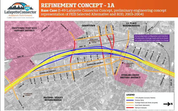 I-49 Lafayette Connector Update: Tier II Analysis Nearly Completed, ECI Surface Tunnel Gets Stoned, Elevated Option Most Likely Solution