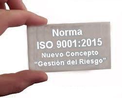 ISO 9001:2015 Gestión del Riesgo