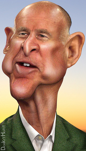 California Governor Jerry Brown by DonkeyHotey