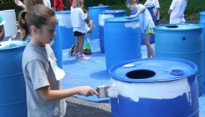 children make rain barrels in howard county