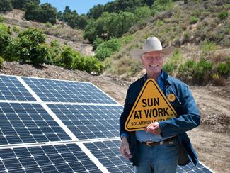 solar power at work