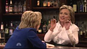 Saturday Night Live digs at Hillary Clinton, but she digs right back