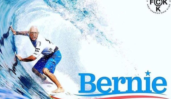 bernie sanders rides the wave into the Hawaii caucus