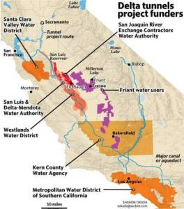 westlands water district is one of the delta tunnels waterfix funders