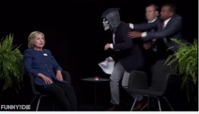 The secret service takes out Zach Galifianakis when he tries to scary Hillary Clinton on Between Two Ferns