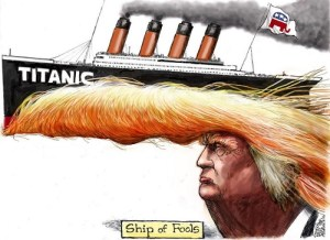 Turmp - rearranging the deck chairs