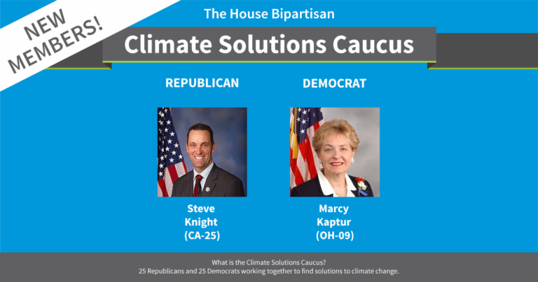 Climate Solutions Caucus reaches 50 members (inc. 25 Republicans!)