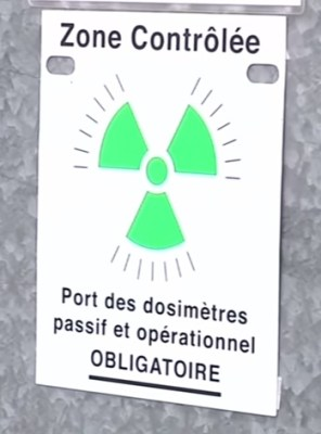 France nuclear power safety sign